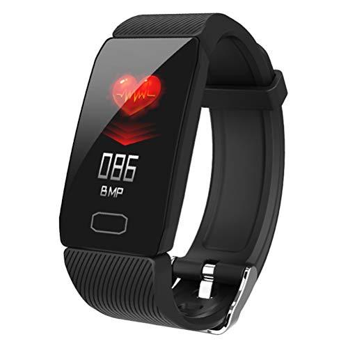 WY-H Pulsera Inteligente Q1, Movimiento Bluetooth para Hombres y Mujeres Rastreador de Ejercicios a Prueba de Agua, podómetro de frecuencia cardíaca y presión Arterial, para iOS y Android