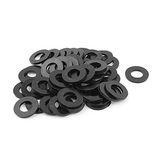 Aexit 50pcs M12 Shaft Collars x 24mm Plastic Spacer Flat Nylon Standoff Heat Shrinkable Shaft Collars Washer Insulation