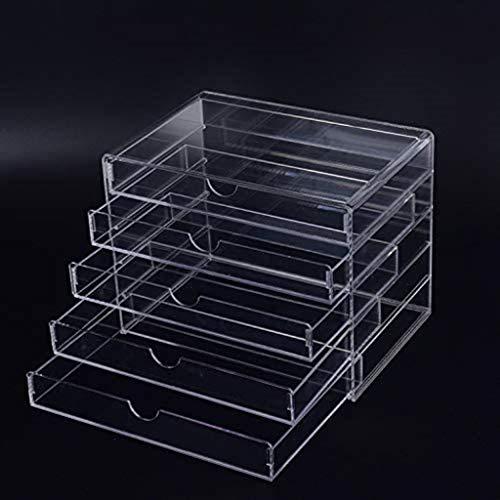 Lszdp-negozio Cosmetica ontvangen Box hoge permeabiliteit Glass Drawer vitrinekast Cosmetics ontvangen Box