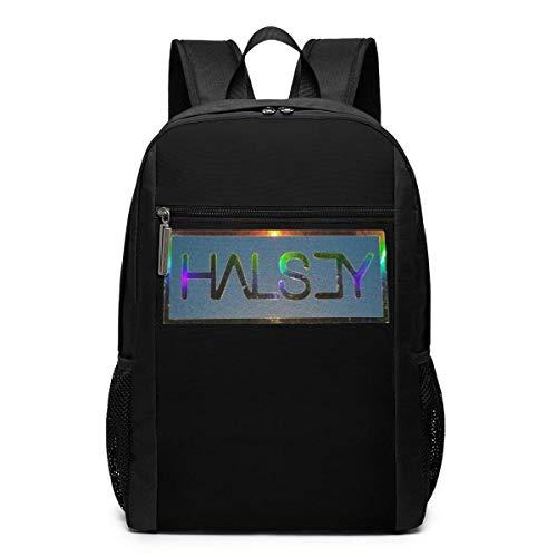 Schultasche Rucksack Halsey-Badlands Black 17 Inch Multifunction Backpack Backpack College Youth Schoolbag Travel Bag Laptop Backpack
