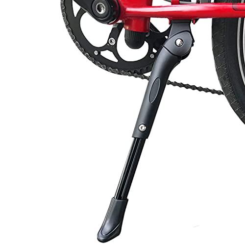 Ruru Caballete Lateral Ajustable, Soporte de Bicicleta de Aleación Ajustable MTB con Pie de Goma Antideslizante Soporte de Pie de Aleación Universal para Bicicleta 14'- 26'