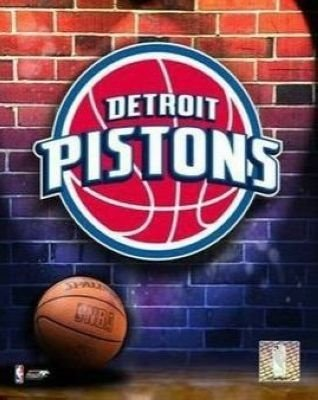 Detroit Pistons NBA 8x10 Photograph Team Logo and Basketball
