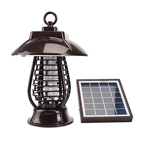 Solar Insect Killer UV-Lampe, wasserdichte Fliegenmücke im Freien hat Bug Zapper und Gartenlichter Funktion Dual-Modi für Garten Patio Rasen Keine giftigen Chemikalien