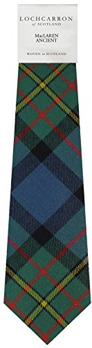 I Luv Ltd Gents Neck Tie MacLaren Ancient Tartan Lightweight Scottish Clan Tie