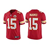LAVATA T-Shirt Manches Courtes Homme Uniforme De Football Kansas City Chiefs 15# Patrick Mahomes Maillots De Rugby T-Shirts