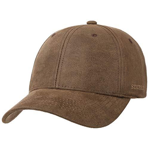 Stetson Stampton Cap Basecap Baseballcap Sonnencap Sommercap Baumwollcap Herren - Metallschnalle, mit Schirm, Schirm Frühling-Sommer - L (58-59 cm) braun