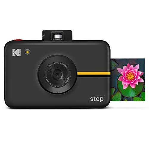 KODAK RODIC20AMZB Step Cámara Digital con Sensor de Imagen de 10 MP - Tecnología Zink, Visor clásico, Modo selfi, Temporizador automático, Flash Incorporado y 6 Modos de Imagen | Negro