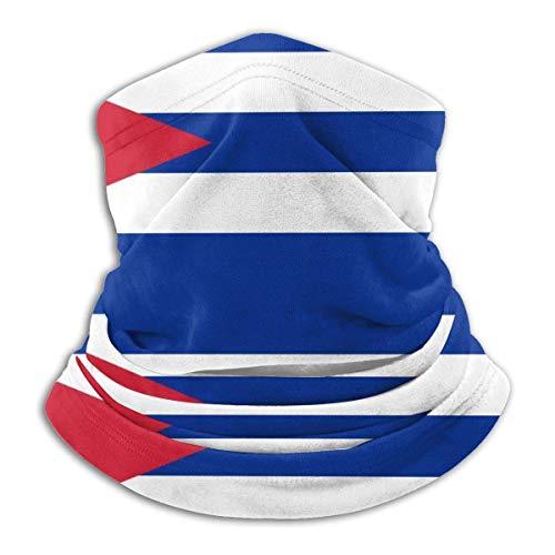 Verctor Drapeau de Cuba Cache-Cou Cache-Cou Extensible Masque Facial Coupe-Vent Masque de Bouche Unisexe Housse de moufle