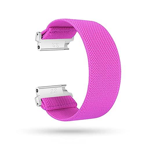 LIANYG Correa De Reloj 18 mm 20 mm 22 mm Strap de Deporte elástico Reloj 46mm Banda Nylon 493 (Band Color : Hop Pink, Band Width : 22mm)