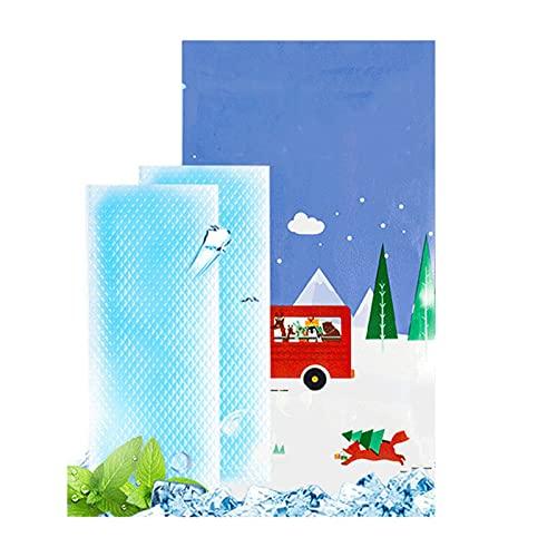 Parches De Gel Refrescante,con Bolsa De RefrigeracióN De Gel Artefacto De Verano 40 Piezas,Compresas FríAs Sin EstimulacióN CóModo Y PortáTil