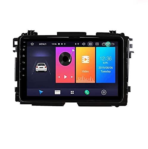 Coche Estéreo Android 10.0 Double Din Head Unit Radio Para Honda Vezel Hrv Hrv 2014-2017 Navegación Gps 9 Pulgadas Player Multimedia Video Receptor Carplay Dsp(Size:WIFI:2GB+32GB,Color:Cuatro nucleos)
