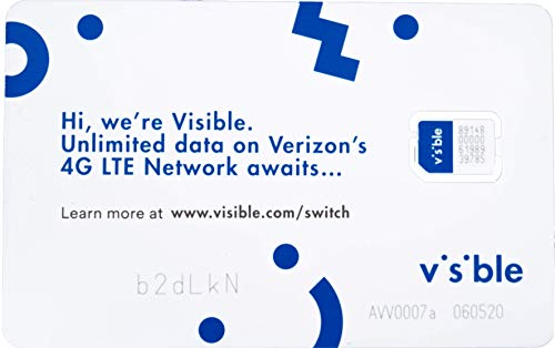 Visible Activation SIM kit | $40/mo Unlimited Data, Talk, & Text