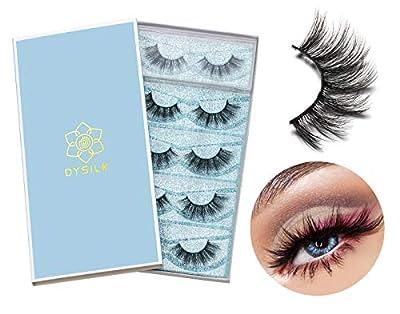 DYSILK 6D Mink Eyelashes Wispies Handmade False Eyelashes Pack Extension Thick Long Reusable Soft Makeup Natural Look Fake Eyelashes