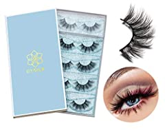 HIGH QUALITY & HAND-MADE LASHES--Each of our 6D fake lashes is Hand-made , as soft and fluffy as your lashes, Vivid and shiny and long lifespan. Add length in a fashionable way, make your eyes bright and charming.And it can be reused more than 15 tim...
