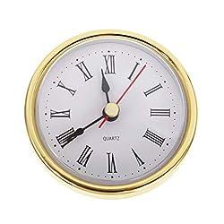 Elinna Clock Movement - Classic Clock Craft Quartz Movement 2-1/2 (65mm) Round Clocks Head Insert Roman Number