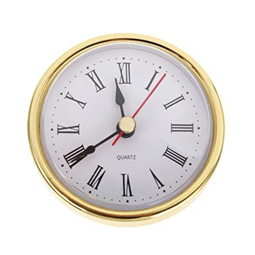 "Elinna Clock Movement - Classic Clock Craft Quartz Movement 2-1/2"" (65mm) Round Clocks Head Insert Roman Number"