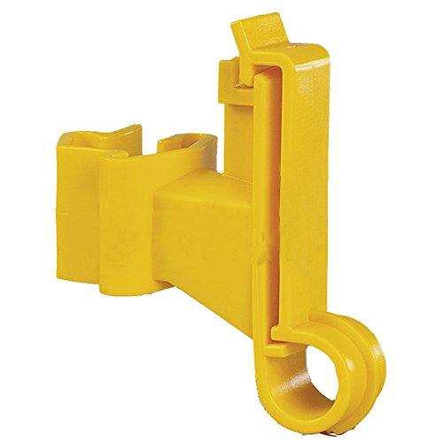 Patura Breitband-Isolator für T-Pfosten, gelb (25 Stück / Pack)