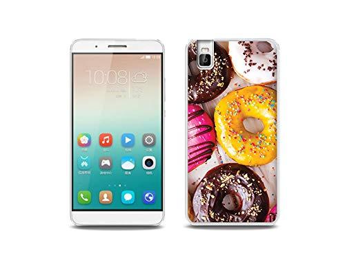 etuo Handyhülle für Huawei ShotX - Hülle, Silikon, Gummi Schutzhülle - Donuts