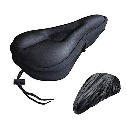 RIAVIKA Funda de gel para asiento de bicicleta con funda resistente al agua para asiento de bicicleta de montaña y sillín de bicicleta de carretera
