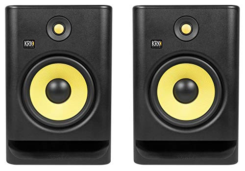 "2 KRK ROKIT 8 G4 8"" Bi-Amped Active Powered Studio Monitor Speakers RP8-G4 RP8G4"
