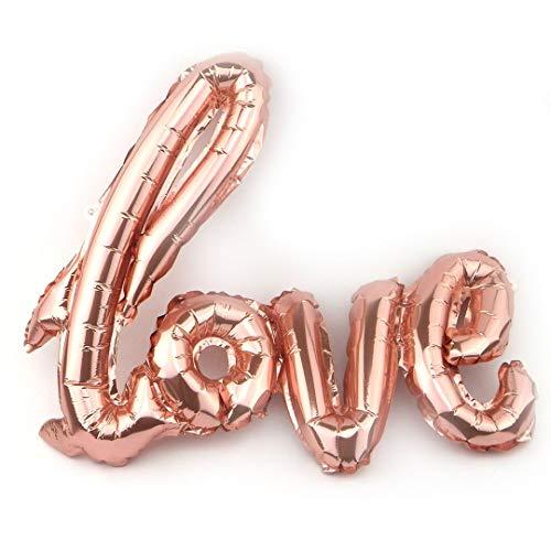 Sepkina Folienballon Ballon Hochzeit Romantik Partyballon Muttertag Geburtstag Love Liebe Love-Design L-XL (Rosa-Rose-Gold, L)