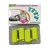 Sunshay 4 pcs/lot Chat pour Animaux de Compagnie Anti-Chaussures Bottes Anti-éraflures réglables Gant de Patte de Chat pour la baignade, l'alimentation en médecine