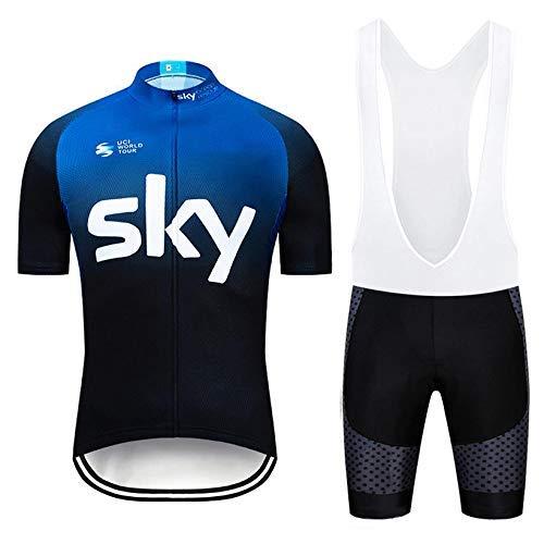 Radsport-Bekleidung für Herren, Rennrad Trikot Herren mit Radhose mit Sitzpolster für MTB und Pro Team, Sommer