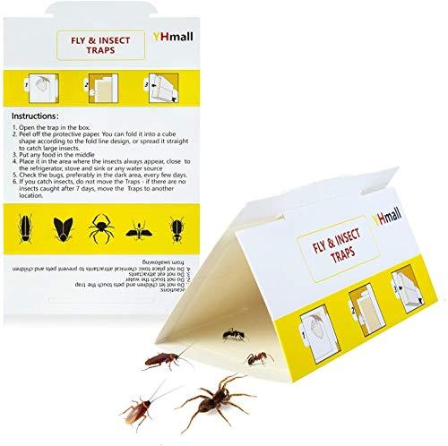 YHmall 12 trampas para Insectos trampas para Insectos contra cucarachas Multi Insectos Trampa para Moscas Pegatina Amarilla