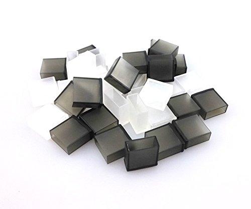 Honbay 40pcs Semitransparent Black and Clear Plastic USB ...