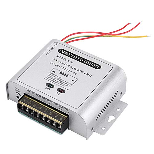 FOLOSAFENAR Buen blindaje 12V 5A Sistema de Control de Acceso de Puerta Fuente de alimentación de Control de Acceso para Controlador de Control de Acceso para Control de Acceso