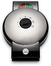 Wilfa ØSTERDAL wafelijzer - dubbele antiaanbaklaag, 1.000 watt, regelbare thermostaat en signaallicht, zilver