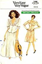 Vogue 7496 Sewing Pattern Misses Top and Skirt Size 6 - 10