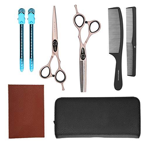 Tijeras de corte de cabello fuertes de oro rosa, portátiles, duraderas para todo tipo de cabello, para peluquería, para uso doméstico