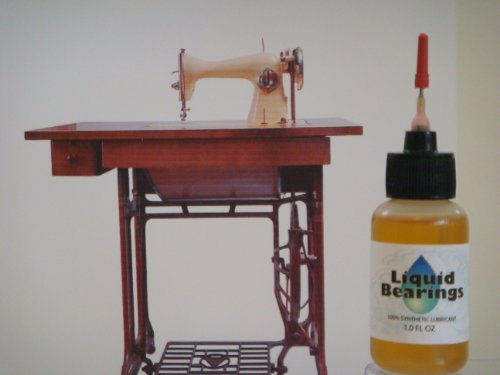 Liquid Bearings 100%-synthetic Oil for modern and vintage sewing machines, Runs quieter and Also Prevents Rust!!