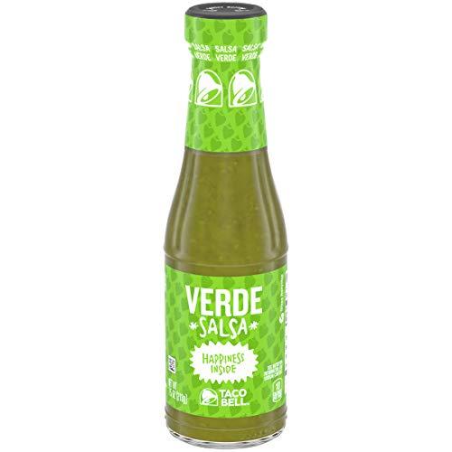 Taco Bell Verde Salsa Sauce (7.5 oz Bottles, Pack of 12)