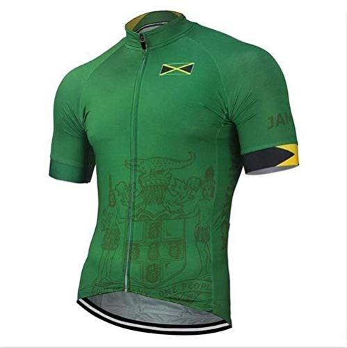 Factory8 - Country Jerseys - Love Your Country! Cycling Jerseys & Sets Collection - Team Jamaica Men's Cycling Jersey & Bib Short Set - Jersey Only - L