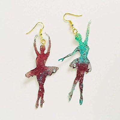 Boucles d'oreilles Dancers - Boucles d'oreilles Dancer drops - Bijoux de danse tendance - Bijoux pour filles dansantes - Bijoux Rockabilly - Boucles d'oreilles ballet fantaisie