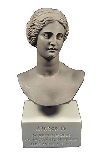 Estia Creations Escultura Afrodita Venus Estatua Diosa del Amor Museo Reproducción Busto Color Gris