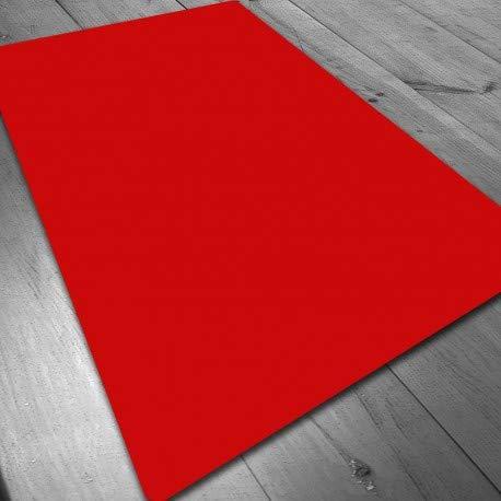 Tapete de Neopreno 140x80 cm - Rojo Liso