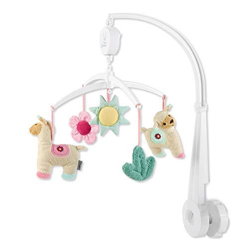 Sterntaler Mobile Kuschelzoo, Gestänge, Spielwerk, Mobile-Figuren, Alter: Für Babys ab der Geburt, Lama Lotte, mehrfarbig