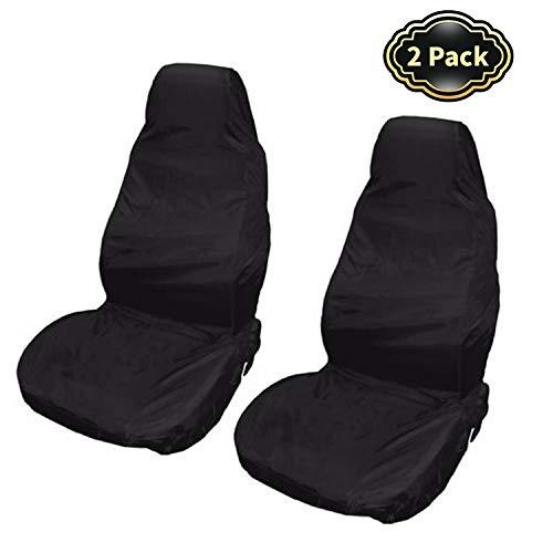 CICMOD Sitzschoner für Autositze 2 Stück Universal Schonbezug für Fahrersitz Vordersitze Wasserdicht Autositzüberzug