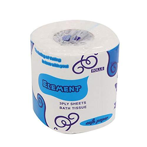 WISREMT Household Dreischichtige Papiertücher Hohles Ersatzrollenpapier Ultraweiches Ultra Gentle Clean Touch Toilettenpapier