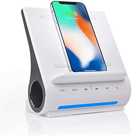 Azpen Dockall D108 Qi Wireless Fast Charging Docking Station with Upgraded Bluetooth Speaker product image