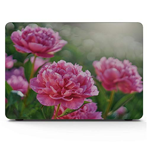 MacBook Air Protective Case Pink Flowers Peonies Flowering Mac Book Pro Cover Hard Shell Mac Air 11'/13' Pro 13'/15'/16' with Notebook Sleeve Bag for MacBook 2008-2020 Version