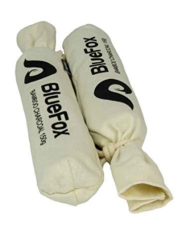 BlueFox I Luftreiniger Aktivkohle 2 x 150g I Luftentfeuchter I Lufterfrischer & Geruchsentferner Bambusaktivkohle I Entfeuchter für Stiefel, Stiefeletten, hohe Schuhe I Geruchsneutralisierer INatur
