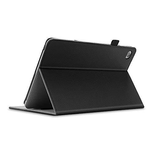 Fintie Hülle für Huawei MediaPad M5 Lite 10.1 - Kunstleder Multi-Winkel Betrachtung Schutzhülle mit Dokumentschlitze, Auto Schlaf/Wach Funktion für Huawei M5 Lite 10,1 Zoll 2018, Schwarz