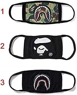 Generic Ape Shark Cotton Bathing Camo Cosplay Mouth Masks (Black, EBIVAEB07840) Anti-Pollution Dust Cotton Unisex Mouth Mask(Set Of 2) Black