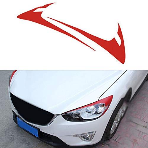DHFBS Auto Sticker Wenkbrauw Decoratie Sticker, Voor Mazda 2012 2016 CX5 Koolstofvezel Koplamp Voorlamp Wenkbrauw Sticker Accessoires 2 stks