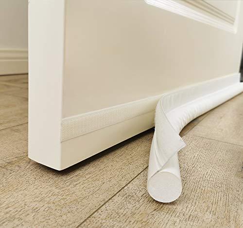 MAXTID Door Draft Blocker 32 inches Door Insulation Under Door Breeze Blocker Soundproof White