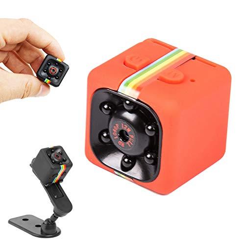 Mini cámara espía Oculta, cámara de policía inalámbrica,videocámara con detección de Movimiento,grabadora de Video Digital con visión Nocturna por Infrarrojos,grabadora de Video SQ11 HD 1080P (Red)